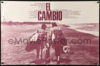 3f004 EL CAMBIO Mexican poster 1976 Alfredo Joskowicz's The Change, great image on beach!