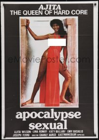 3f069 APOCALYPSE SEXUAL export Spanish 1982 sexy full-length Ajita Wilson as The Queen of Hard Core!