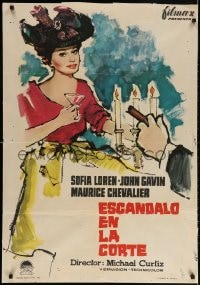 3f070 BREATH OF SCANDAL Spanish 1961 completely different art of sexiest Sophia Loren by MCP!