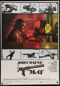 3f077 McQ Spanish 1974 John Sturges, John Wayne is a busted cop with an unlicensed gun!