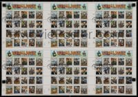 3g013 CIVIL WAR uncut stamp sheet 16x22 1995 1st day of issue, great images of people & locations!