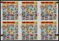 3g014 COMIC STRIP CLASSICS uncut stamp sheet 16x22 1995 1st day of issue, great images of classics!