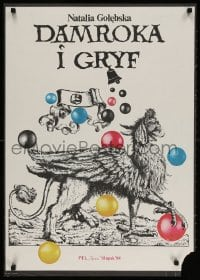 3g328 DAMROKA I GRYF stage play Polish 23x33 1984 completely wild art of a griffin & more!