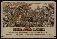 3g059 ALAMO DRAFTHOUSE 25x36 art print 2007 theater that became legend, MANY different characters!