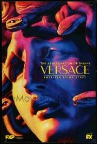 3g076 AMERICAN CRIME STORY tv poster 2018 Gianni Versace, colorful close-up artwork of Medusa!