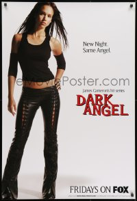 3g080 DARK ANGEL tv poster 2001 Cameron, full-length sexy Jessica Alba over white background!