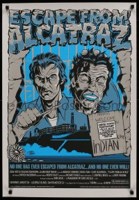 3g061 ESCAPE FROM ALCATRAZ 22x32 art print R2006 Eastwood busting out w/ mask by Stainboy!
