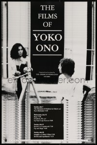 3g051 FILMS OF YOKO ONO 24x36 film festival poster 1991 great image of her and John Lennon!