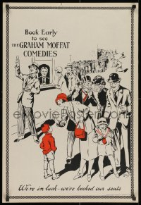 3g488 GRAHAM MOFFAT COMEDIES 21x31 English special poster 1910s art by Chas Willis!