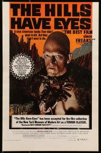 3g493 HILLS HAVE EYES 11x17 special poster 1978 Wes Craven, creepy sub-human Michael Berryman!