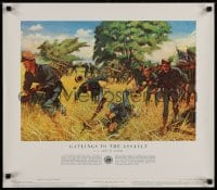 3g494 HISTORY OF THE UNITED STATES ARMY group of 12 21x24 special posters 1950s different battles!