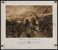 3g495 HISTORY OF THE UNITED STATES ARMY group of 2 21x24 special posters 1953 Remagen and Ploesti!
