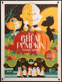3g069 IT'S THE GREAT PUMPKIN, CHARLIE BROWN signed #237/280 18x24 art print 2011 by Tom Whalen!