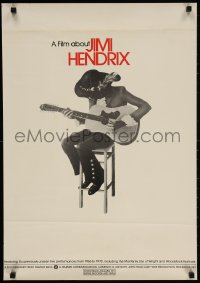 3g501 JIMI HENDRIX 20x29 special poster 1973 cool artwork of the rock & roll guitar god!