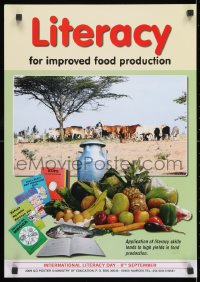 3g516 LITERACY FOR IMPROVED FOOD PRODUCTION 17x24 Kenyan special poster 2009 livestock and food!