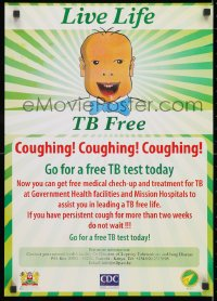 3g520 LIVE LIFE TB FREE 17x24 Kenyan special poster 1990s go for a free TB test today!