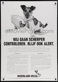 3g525 NEDERLAND VEILIG group of 2 28x40 Dutch special posters 2000s cute puppy is going to crack down on crime!