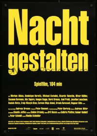3g527 NIGHT SHAPES 24x33 German special poster 1999 Myriam Abbas, Dominique Horwitz, Michael Gwisdek!