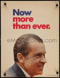3g001 RICHARD NIXON 17x22 political campaign 1972 smiling close-up, Now More Than Ever!