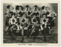 3h073 42nd STREET 8x10.25 still 1933 image of Toby Wing & eight sexy showgirls doffing their hats!
