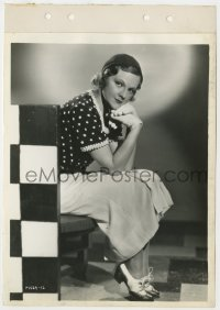 3h079 ADRIANNE ALLEN 8x11 key book still 1930s the pretty English actress in polka dot blouse