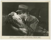 3h133 BIG SLEEP 8x10.25 still 1946 best close up of Humphrey Bogart kissing Lauren Bacall in car!
