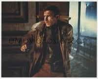 3h030 BLADE RUNNER color 8x10 still 1982 Ridley Scott sci-fi classic, c/u of Harrison Ford with gun!