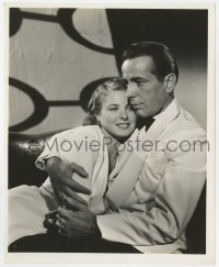3h183 CASABLANCA 8.25x10 still 1942 best portrait of Humphrey Bogart hugging Ingrid Bergman!