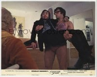 3h035 CLOCKWORK ORANGE color 8x10 still #13 1972 David Prowse carrying Malcolm McDowall, Kubrick!