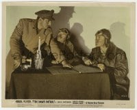 3h037 DAWN PATROL color 8x10 still 1938 Errol Flynn, Basil Rathbone & David Niven in World War I!
