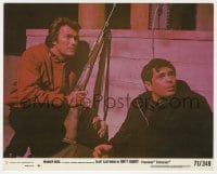 3h039 DIRTY HARRY 8x10 mini LC #2 1971 close up of Clint Eastwood with rifle & Reni Santoni!