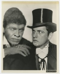 3h258 DR. JEKYLL & MR. HYDE 8x10 still 1933 Fredric March in full monster make-up & as himself!