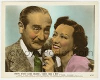 3h041 FATHER TAKES A WIFE color 8x10 still 1941 romantic c/u of Gloria Swanson & Adolphe Menjou!