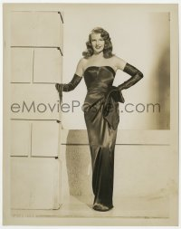 3h352 GILDA 8x10.25 still 1946 wonderful image of sexy full-length Rita Hayworth in sheath dress!
