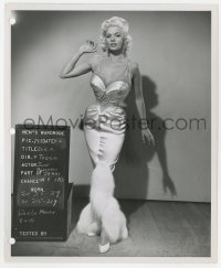 3h355 GIRL CAN'T HELP IT 8.25x10 wardrobe test photo 1956 Jayne Mansfield in costume as Jerri!
