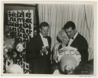 3h005 GOLDEN GLOBE AWARDS 8x10.25 still 1962 happy Marilyn Monroe, Charlton Heston & Rock Hudson!