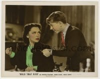 3h043 HOLD THAT KISS color 8x10.25 still 1938 Maureen O'Sullivan about to punch Mickey Rooney!