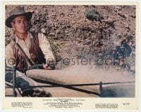 3h044 HOMBRE color 8x10 still 1967 great close up of cowboy Paul Newman shooting his rifle!