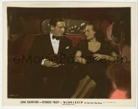3h048 MANNEQUIN color 8x10 still 1938 close up of Spencer Tracy & Joan Crawford riding in car!