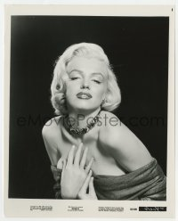 3h022 MARILYN 8x10 still 1963 wonderful heavy-lidded c/u of sexy Monroe with hands on her chest!