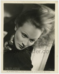 3h605 MARLENE DIETRICH 8x10.25 still 1937 wonderful Paramount studio portrait with flowing hair!