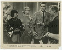 3h013 MONKEY BUSINESS 8x10 still 1952 Marilyn Monroe watches angry Cary Grant arguing!