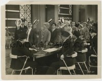 3h635 MONKEY BUSINESS 8x10.25 still 1931 all 4 Marx Bros tipping their hats to customs officials!