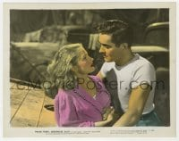 3h051 NIGHTMARE ALLEY color 8x10.25 still 1947 best close up of carny Tyrone Power & Coleen Gray!