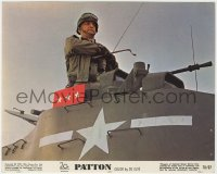3h055 PATTON color 8x10 still 1970 George C. Scott as the legendary World War II general in tank!