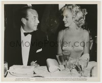 3h014 PRINCE & THE SHOWGIRL candid 8x10 still 1957 Mayor Wagner eyes smiling Marilyn Monroe!