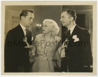 3h761 RECKLESS 8x10.25 still 1935 sexy Jean Harlow betewen William Powell & Franchot Tone!