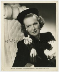 3h775 RITA JOHNSON 8.25x10 still 1946 seated portrait in cool outfit by Bud Fraker!