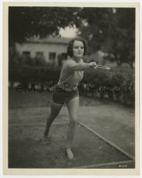 3h778 ROCHELLE HUDSON 8x10 still 1932 the pretty nymph in sandals playing horseshoes at RKO!