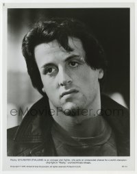 3h779 ROCKY 8x10 still 1976 best head & shoulders portrait of Sylvester Stallone, boxing classic!